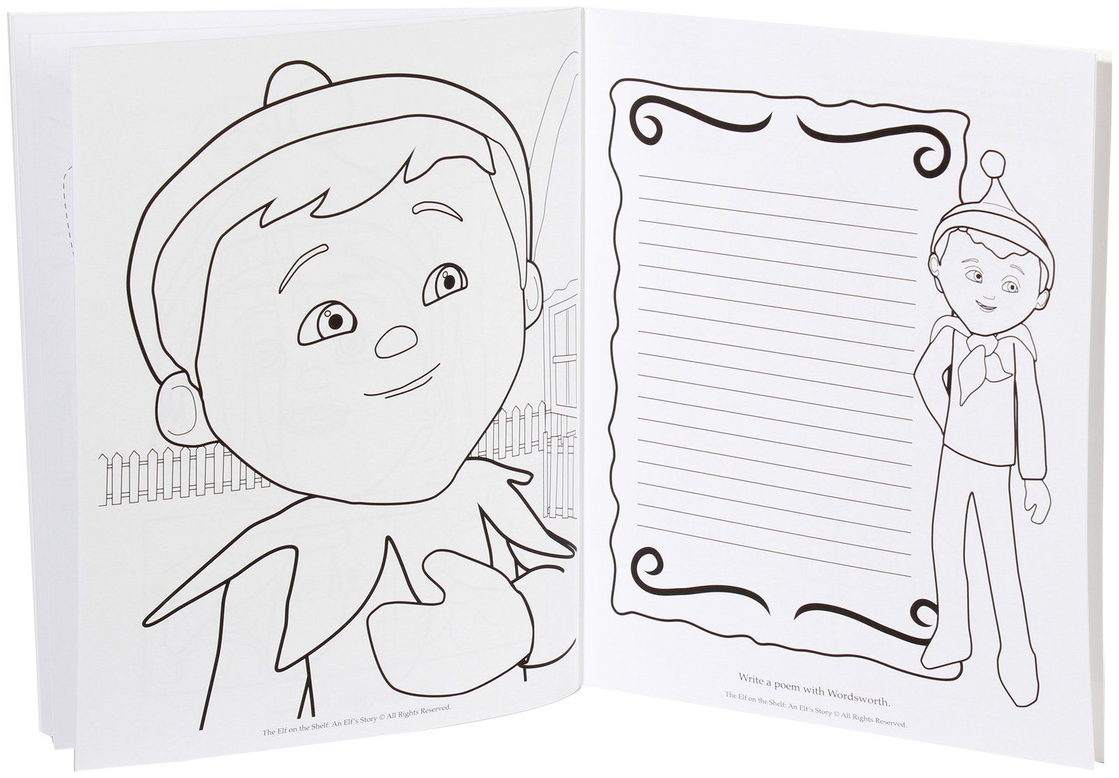 Elf On The Shelf Coloring Pages Elf On The Shelf Coloring Pages To Print Coloring Home Birijus Com