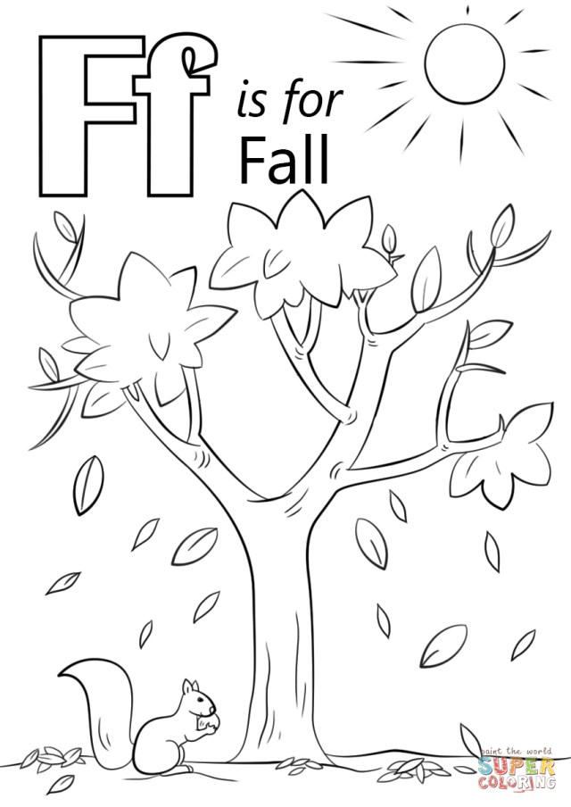 Fall Coloring Pages For Kids Letter F Is For Fall Coloring Page Free Printable Coloring Pages