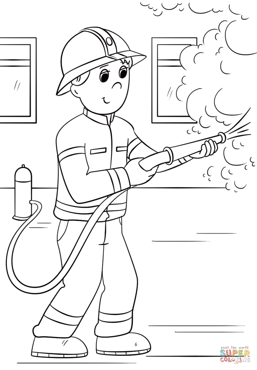 - 23+ Great Picture Of Firefighter Coloring Pages - Birijus.com