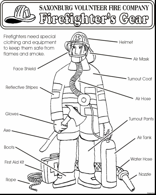 Firefighter Coloring Pages Firefighter Coloring Pages For Preschoolers At Getdrawings