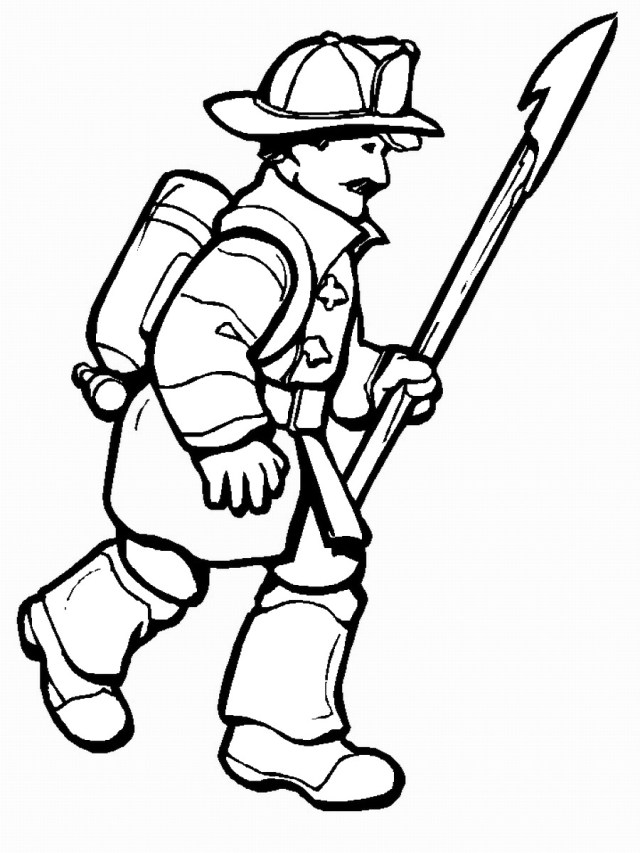 Firefighter Coloring Pages Firefighters Coloring Pages