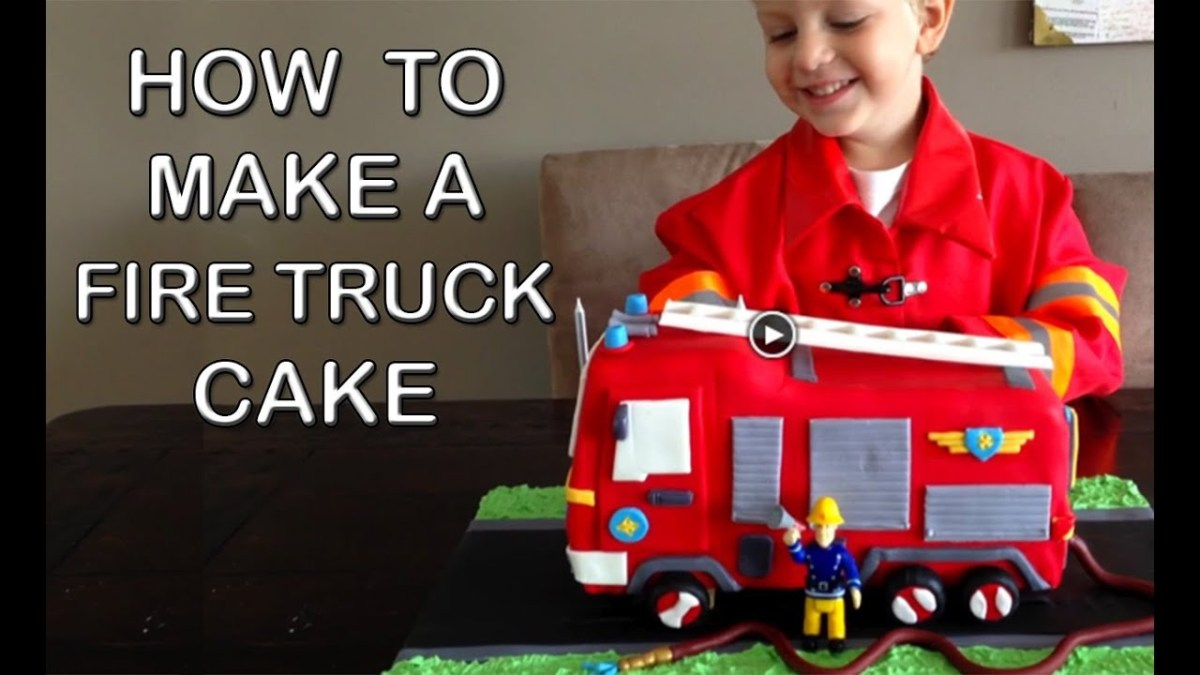 Superb Fireman Birthday Cake Fire Truck Cake How To Cook That Fire Engine Funny Birthday Cards Online Elaedamsfinfo