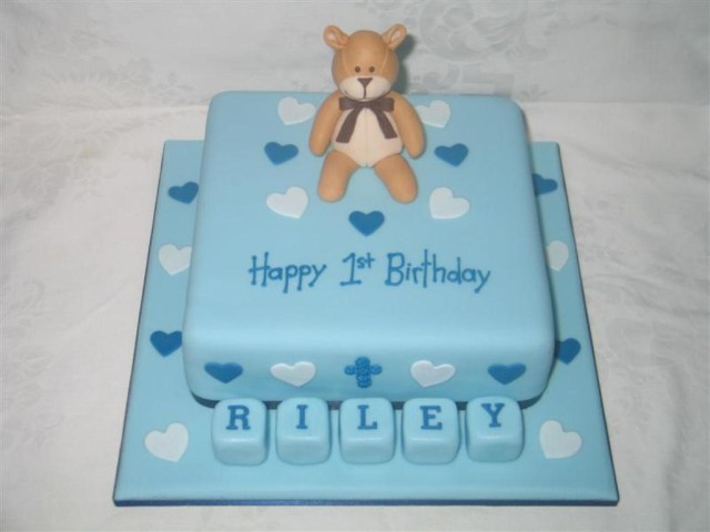 Remarkable 25 Inspiration Image Of First Birthday Cake Boy Birijus Com Personalised Birthday Cards Veneteletsinfo