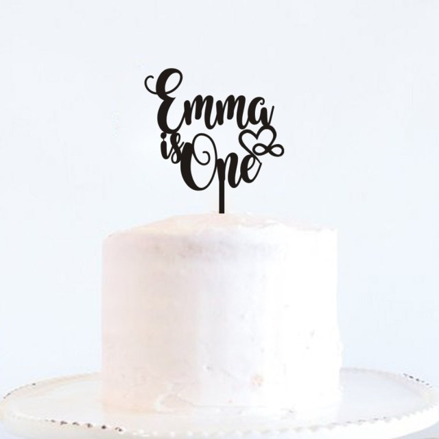 First Birthday Cake Toppers Hot Sale Custom Name Happy Birthday Cake Topper Personalized Gifts