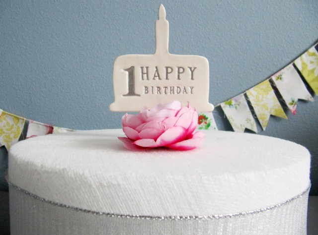 First Birthday Cake Toppers Susabella 1st Birthday Cake Topper In Silver Gold Blue Pink