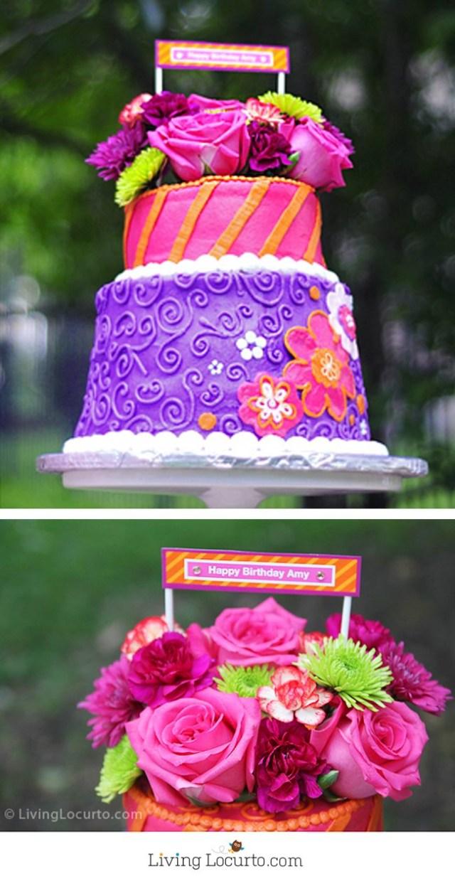 Marvelous 25 Elegant Image Of Flower Birthday Cakes Birijus Com Funny Birthday Cards Online Hetedamsfinfo