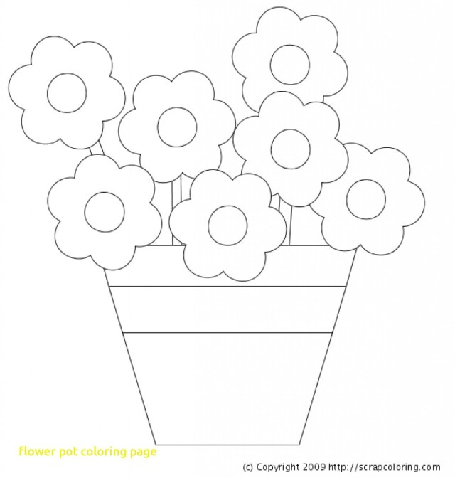 Flower Pot Coloring Page Enormous Flower Pot Coloring Page Printable Free Library Belindalittle