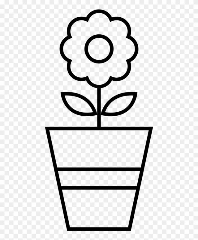 Flower Pot Coloring Page Flower Pot Coloring Page Vaso Com Flor Para Colorir Clipart