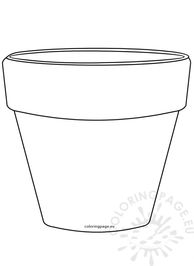 Flower Pot Coloring Page Free Coloring Pages Flower Pots Sleekads