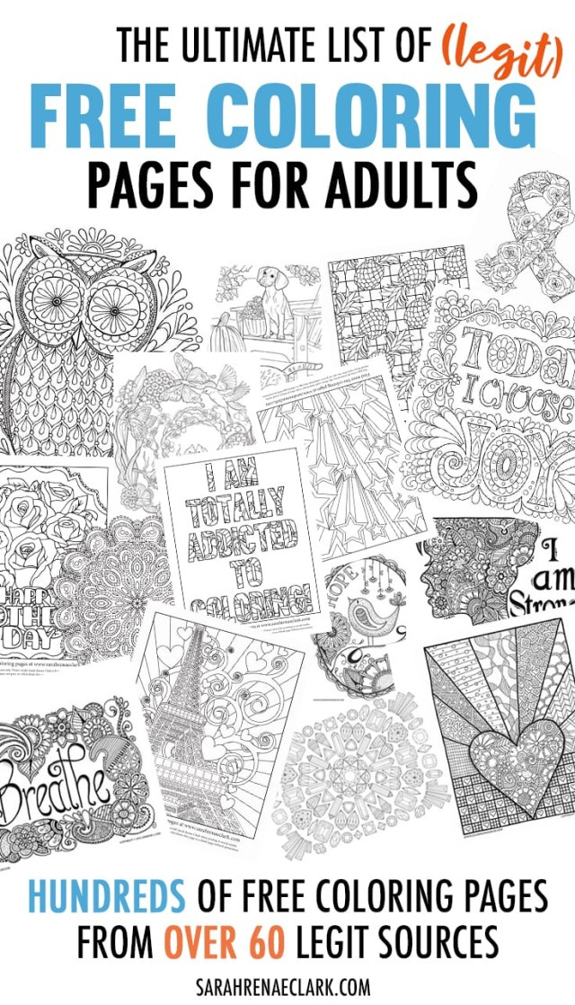 Free Coloring Pages For Adults The Ultimate List Of Legit Free Coloring Pages For Adults