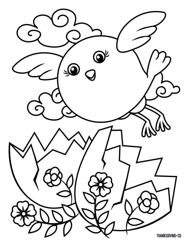 Easter Coloring Pages for Kids - Crazy Little Projects | 828x640