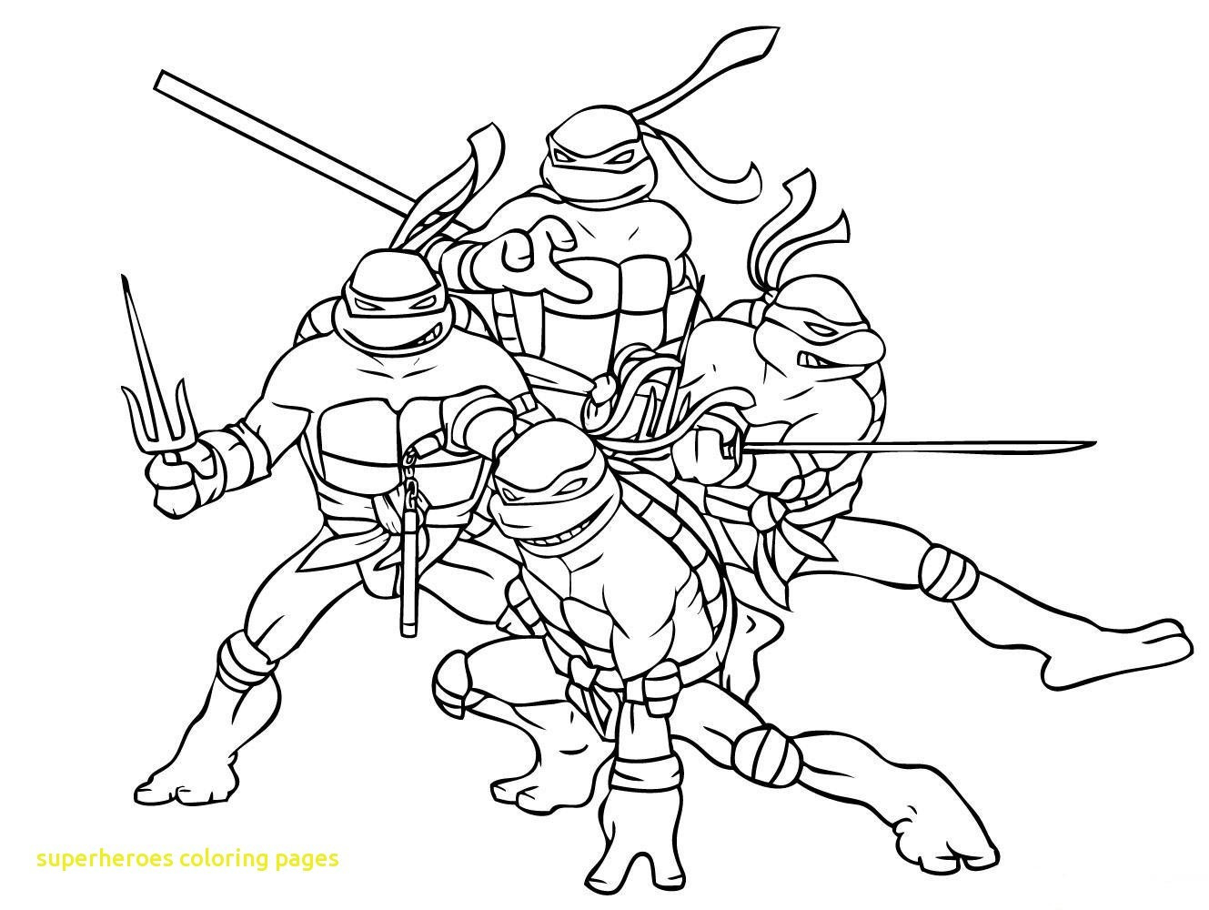 Superhero Coloring Pages - Coloring And Drawing