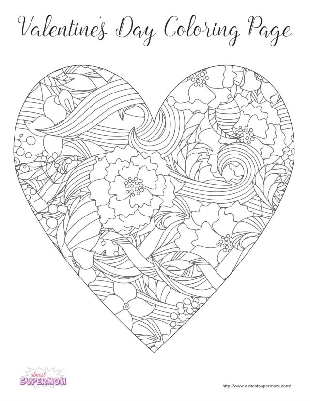 Free Valentines Day Coloring Pages Coloring Page Valentine Coloring Sheets Page Pages Valentines Day