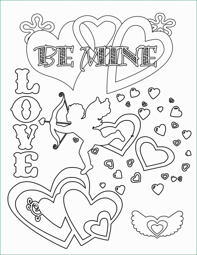 Free Valentines Day Coloring Pages Free Printable Valentine Coloring Pages New Party Simplicity Free