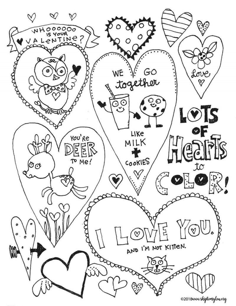 Free Valentines Day Coloring Pages Free Valentines Day ...