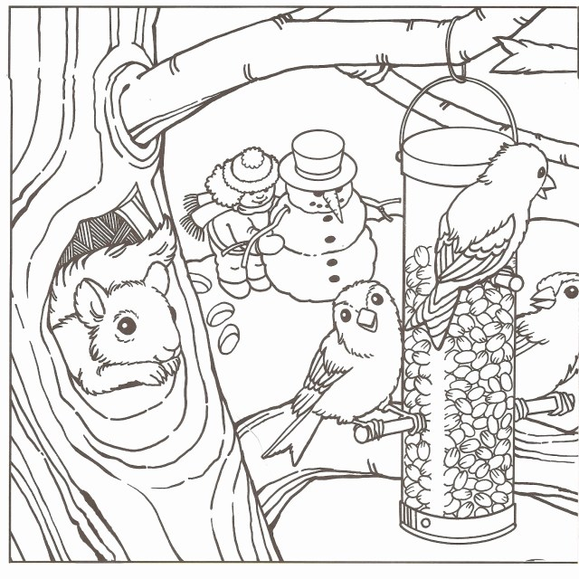 Free Winter Coloring Pages Free Winter Coloring Pages At Getdrawings Free For Personal