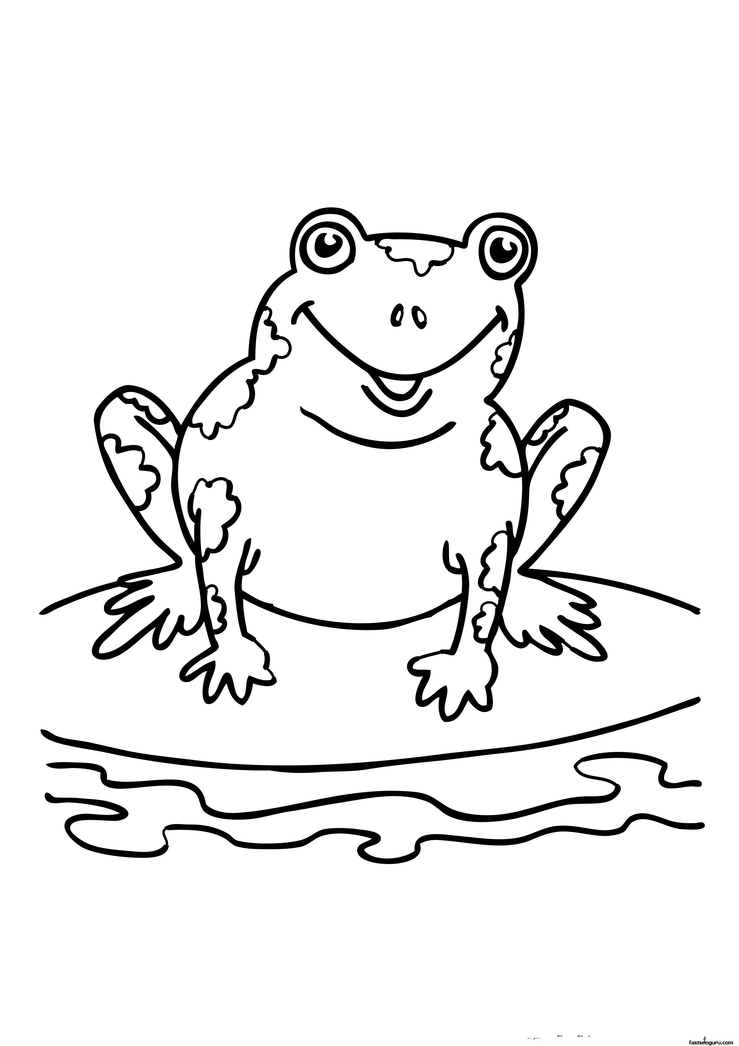 photograph relating to Printable Frogs identified as Frog Coloring Site Breakthrough Pics Of Frogs Towards Shade