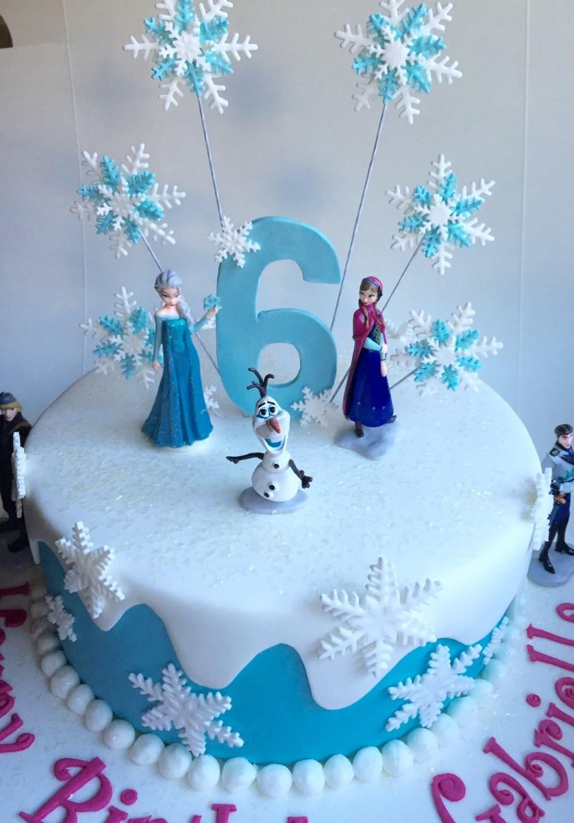 Marvelous Frozen Birthday Cake Ideas Frozen Birthday Cake Covered In Fondant Personalised Birthday Cards Epsylily Jamesorg