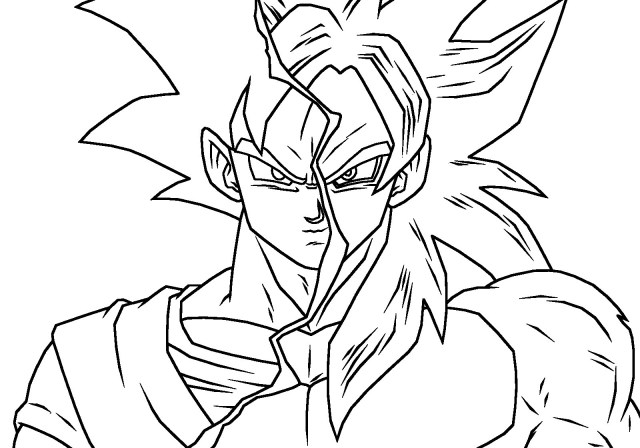 God Coloring Pages Goku Ssj God Coloring Pages Ftwap