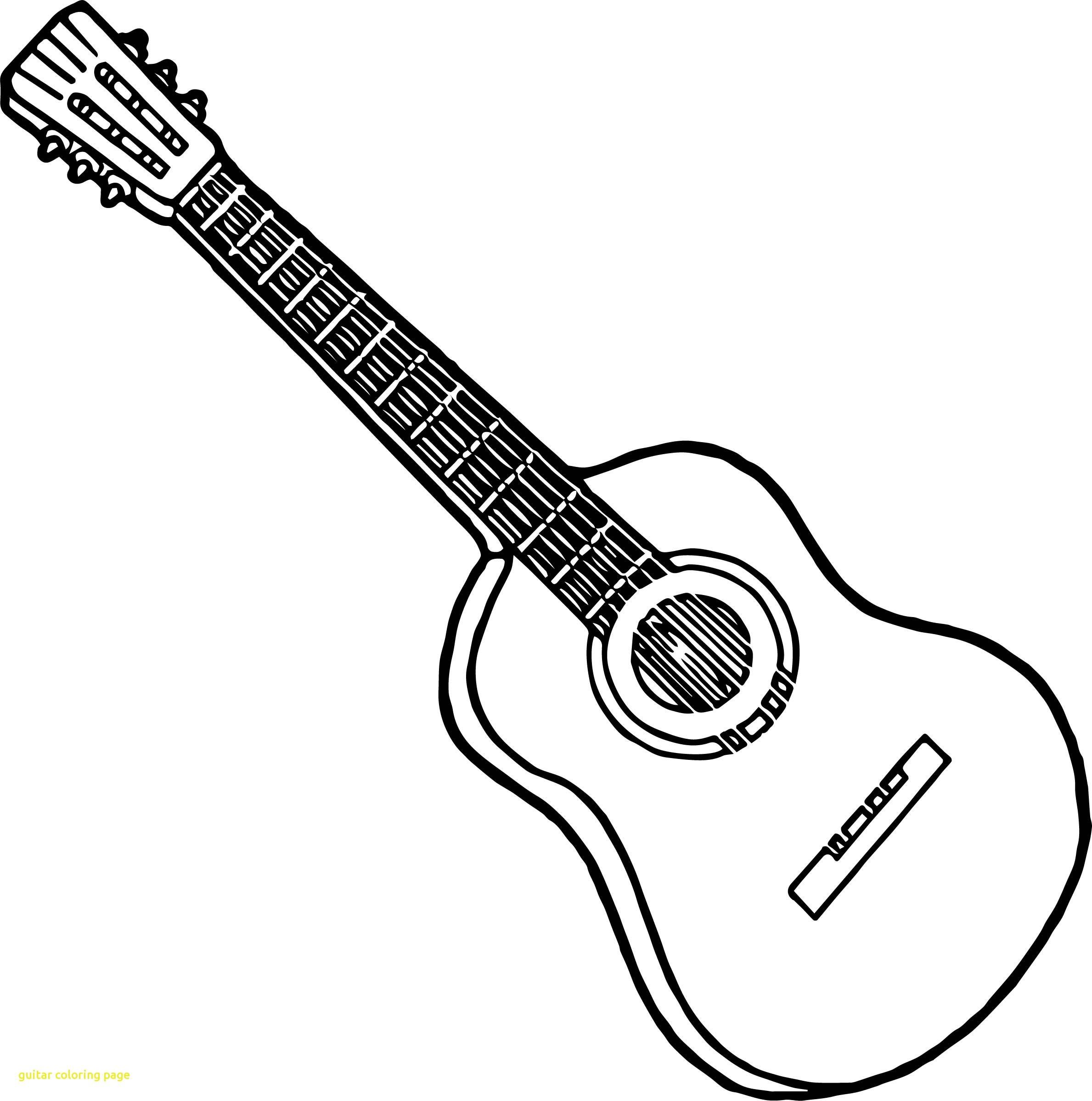 23+ Creative Picture of Guitar Coloring Page - birijus.com