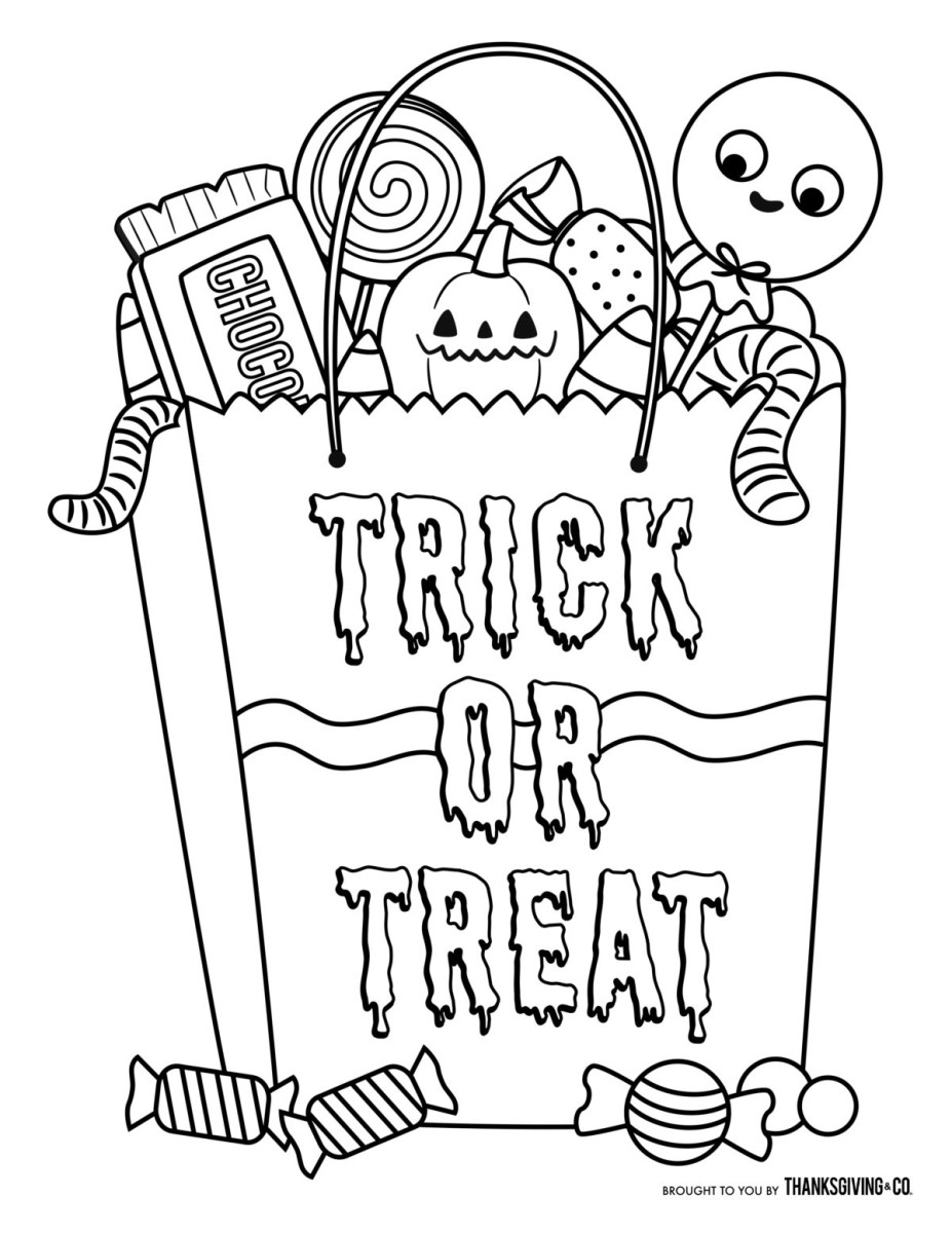 Halloween Coloring Page Coloring Page Fabulous Halloween