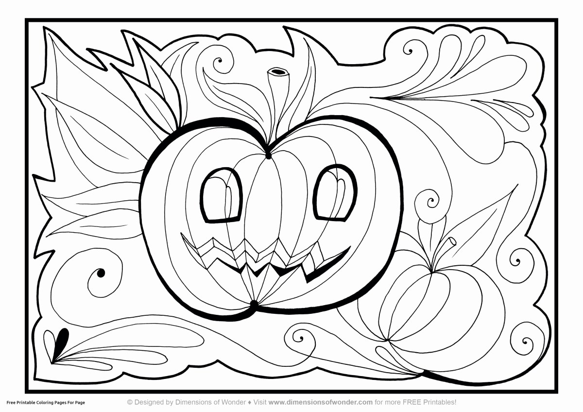 Halloween Coloring Pages Pdf Pumpkin Color Pages Awesome