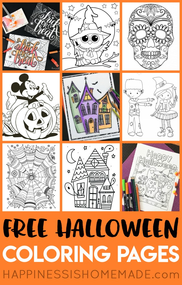 Halloween Coloring Pages Printables Free Halloween Coloring Pages For Adults Kids Happiness Is Homemade