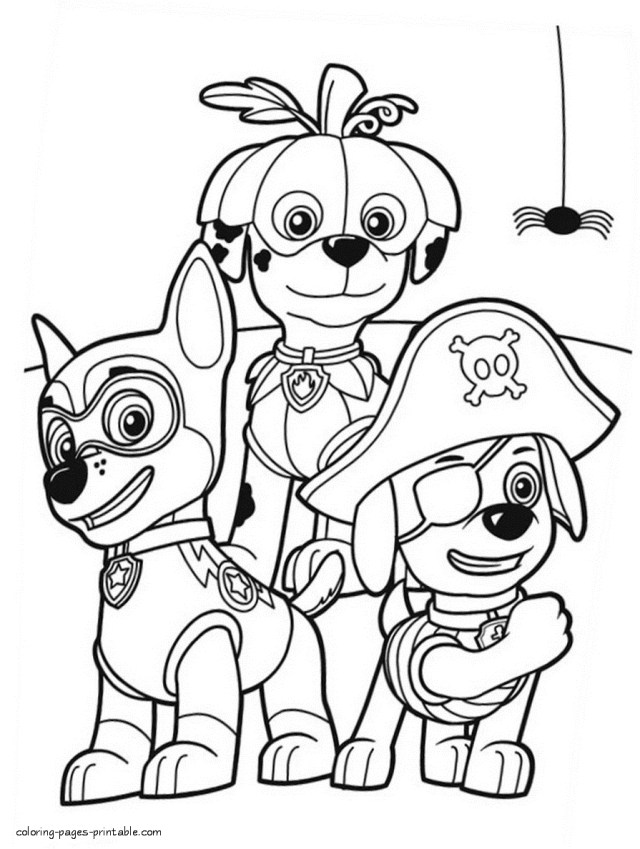Halloween Coloring Pages Printables Paw Patrol Halloween Coloring Pages At Getdrawings Free For