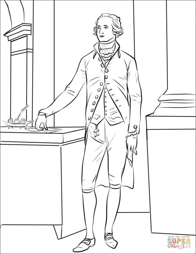 Hamilton Coloring Pages Alexander Hamilton Coloring Page Free Printable Coloring Pages
