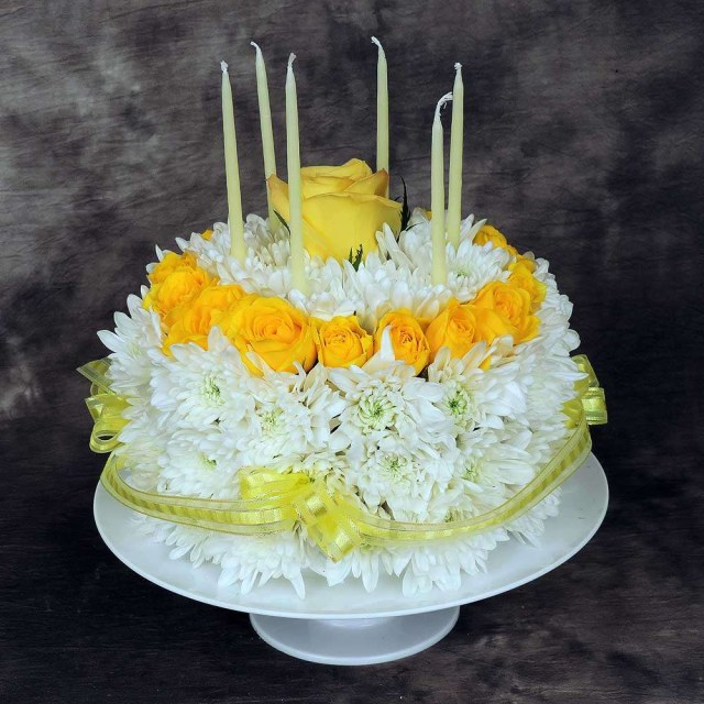 Happy Birthday Cake And Flowers Floral Birthday Cake Kremp