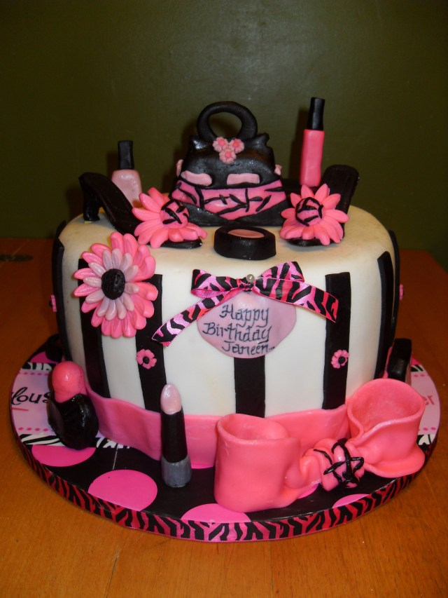 Happy Birthday Shoe Cake Happy Birthday Shoe And Makeup Cake My All Occasion Cakes