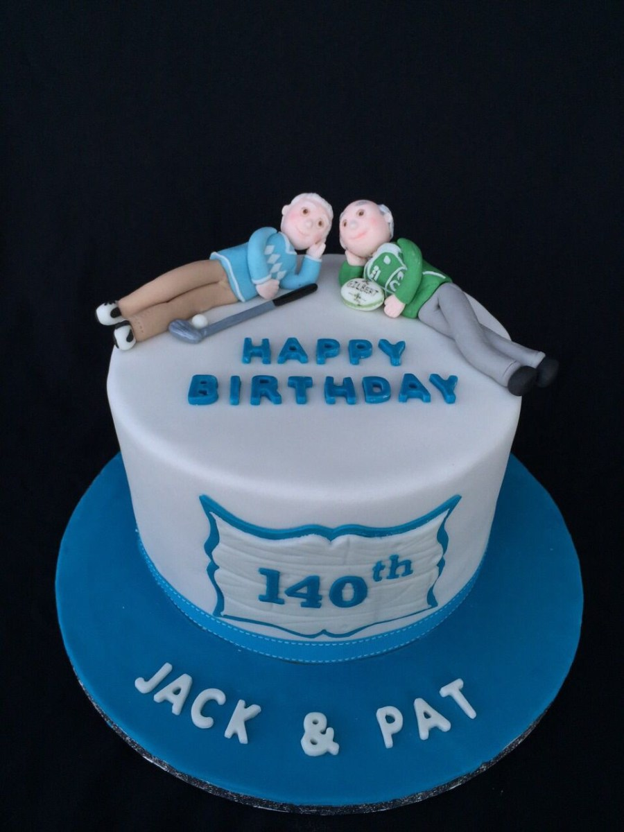 Remarkable Happy Birthday Twins Cake Twin Brother Birthday Cake 70Th Birthday Personalised Birthday Cards Veneteletsinfo