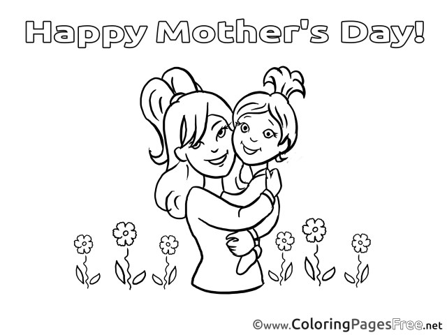 Happy Mothers Day Coloring Pages Daughter Flowers Mom Coloring Sheets Mothers Day Free 20161102
