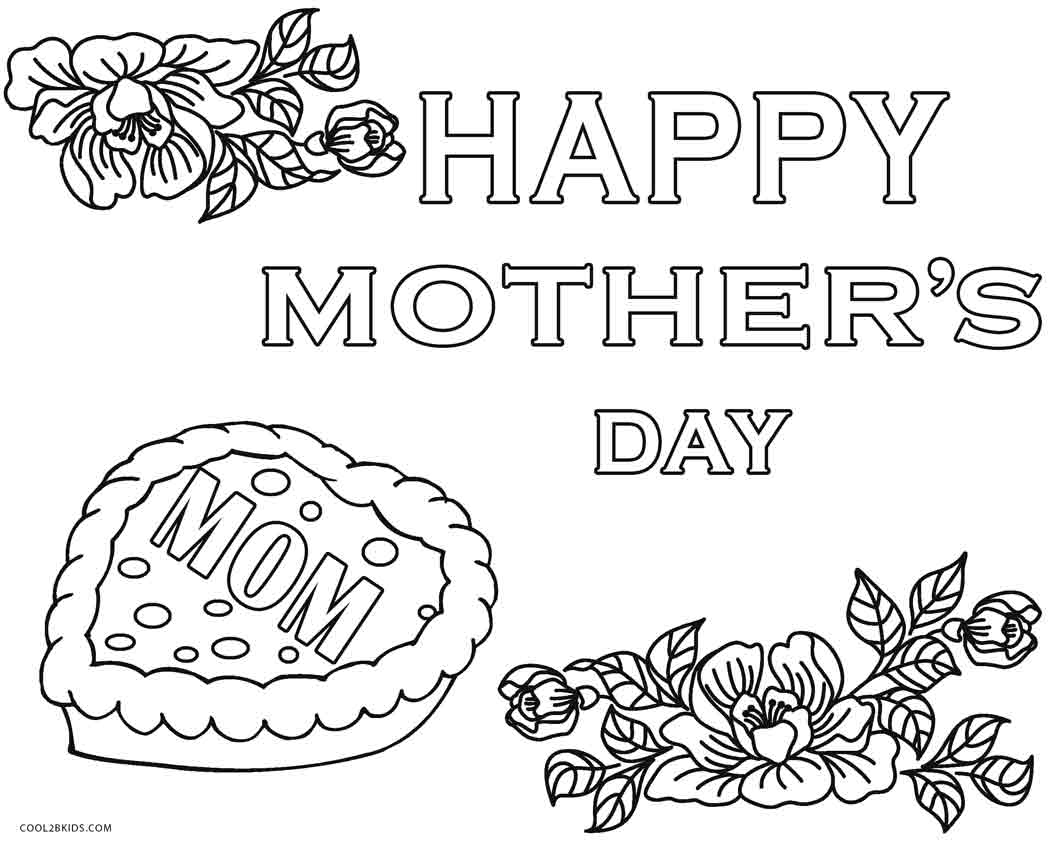 Free Printable Mother's Day Coloring Pages for Kids | 850x1063