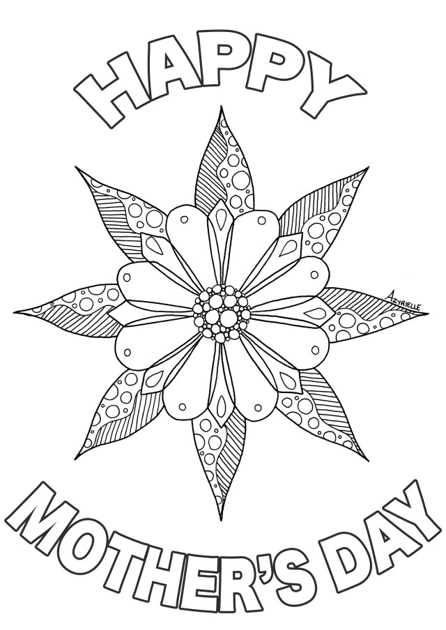 Happy Mothers Day Coloring Pages Mother S Day Mothers Day Adult Coloring Pages