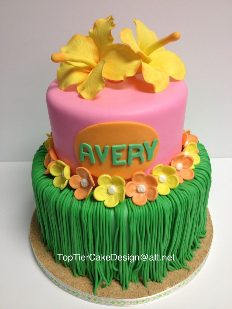 Hawaiian Birthday Cake Hawaiian Grass Skirt Cake Is Made From