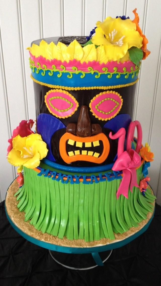 Hawaiian Birthday Cake Luau Tiki Man Birthday Cake Cakecentral