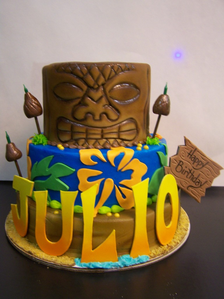 Sensational Hawaiian Birthday Cake Tiki Birthday Cake Le Bakery Sensual Funny Birthday Cards Online Elaedamsfinfo