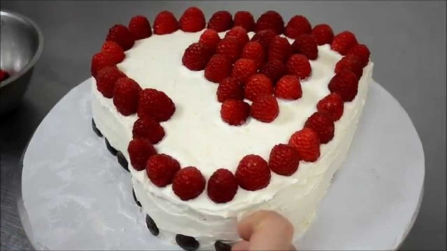 Heart Birthday Cake How To Make Heart Cake Without A Heart Shape Pan Youtube