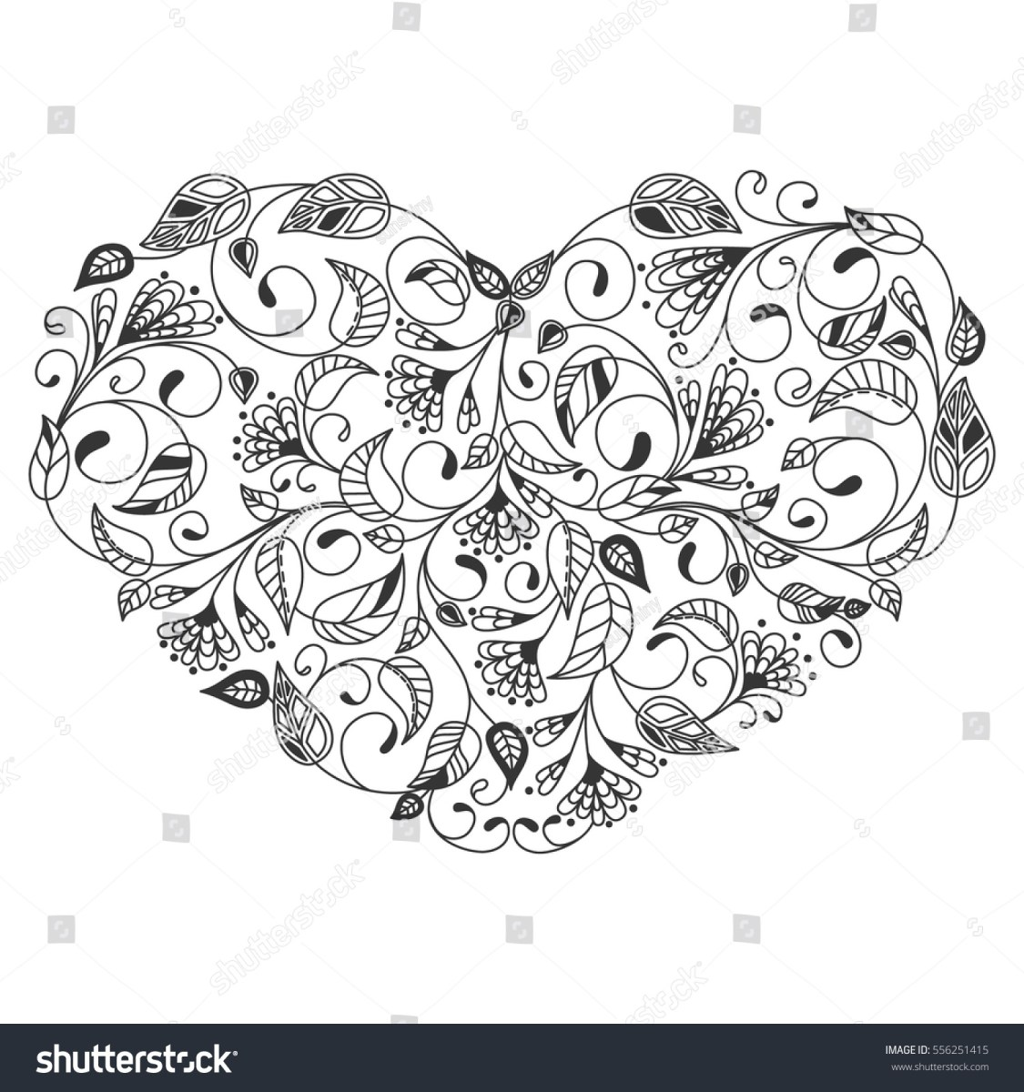 Heart Coloring Pages For Adults Coloring Page Coloring Pages Printable Heart Free For Book Page