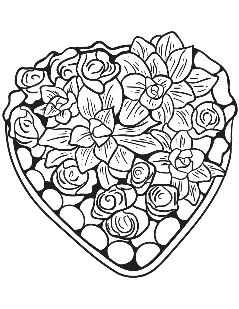 Heart Coloring Pages For Adults Hearts Coloring Pages For Adults Best Coloring Pages For Kids