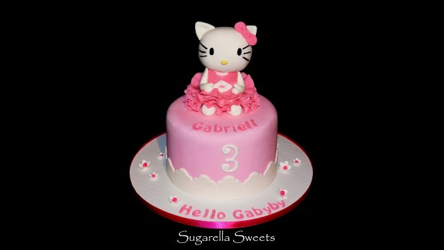 Hello Kitty Birthday Cakes Cake Decorating How To Make Hello Kitty Cake Topper Youtube
