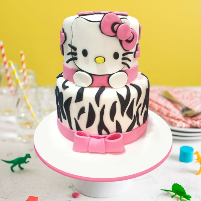 Groovy 32 Excellent Photo Of Hello Kitty Birthday Cakes Birijus Com Personalised Birthday Cards Paralily Jamesorg
