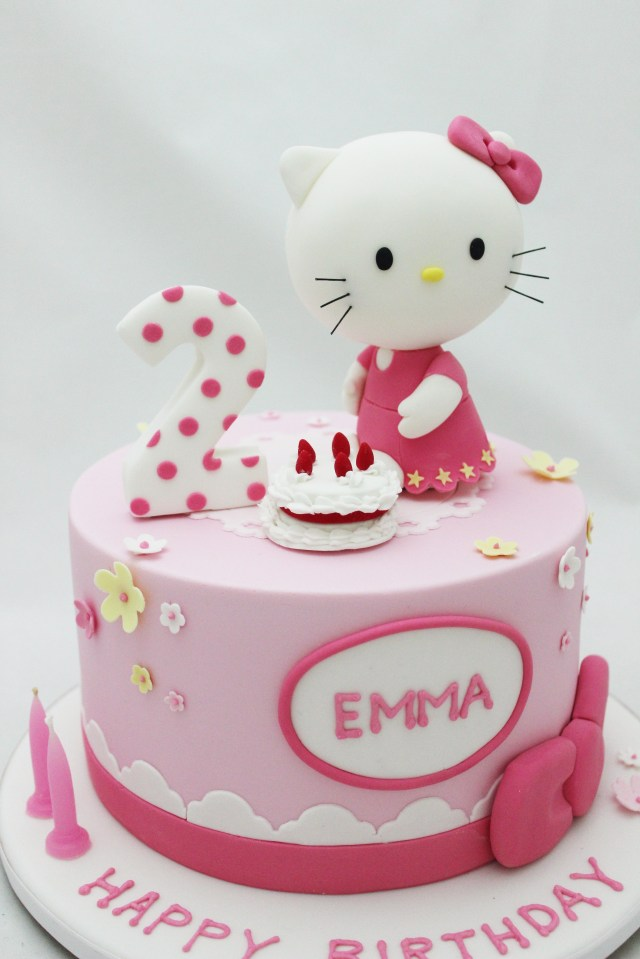 Hello Kitty Birthday Cakes Hello Kitty Cake For 2nd Girls Birthday Cakes I Love Pinterest