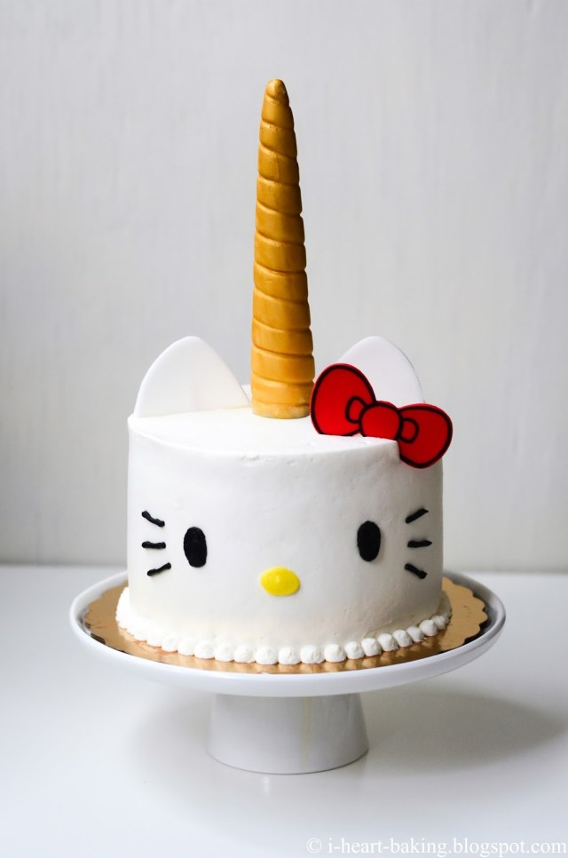 Hello Kitty Birthday Cakes I Heart Baking Hello Kitty Unicorn Cake