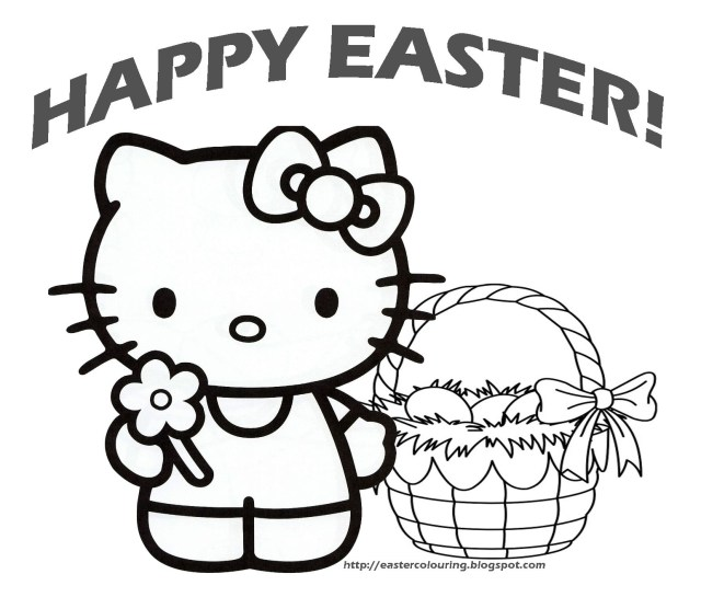 Hello Kitty Coloring Pages Hello Kitty Happy Easter Coloring Pages Ruva