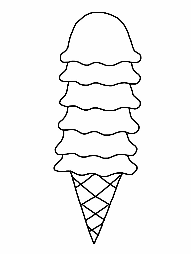 Free Ice Cream Cone Coloring Page, Download Free Clip Art, Free ... | 1024x768