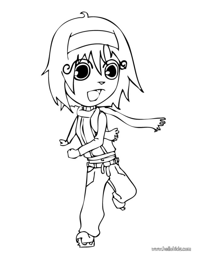 Ice Skating Coloring Pages Ana Ice Skating Coloring Pages Hellokids