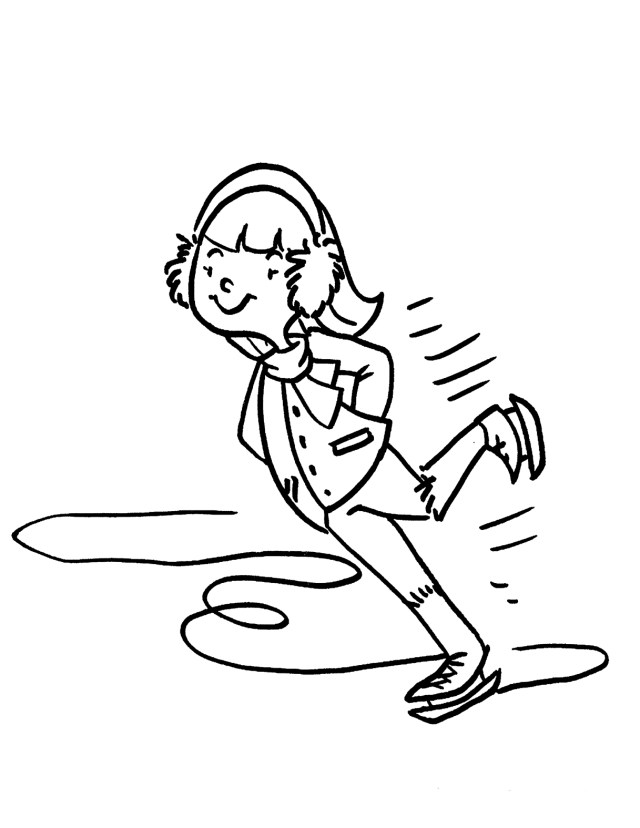 Ice Skating Coloring Pages Coloring Pages For Pictures Of Sports Ice Skating Colouring Images