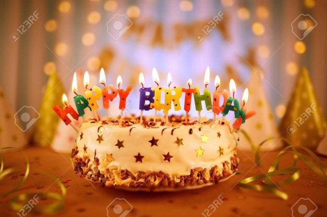 Images Of Happy Birthday Cakes Happy Birthday Cake With Candles Stock Photo Picture And Royalty